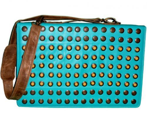 Bolsa de piel para dama porta laptop con tachuelas en e - Notebook con porta parallela ...
