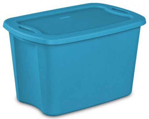 Tote 10 Gal 38 L Caja De Plastico Para Almacenar