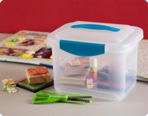 Caja pequena de plastico show off sterilite en e for Mejor pegamento para plastico