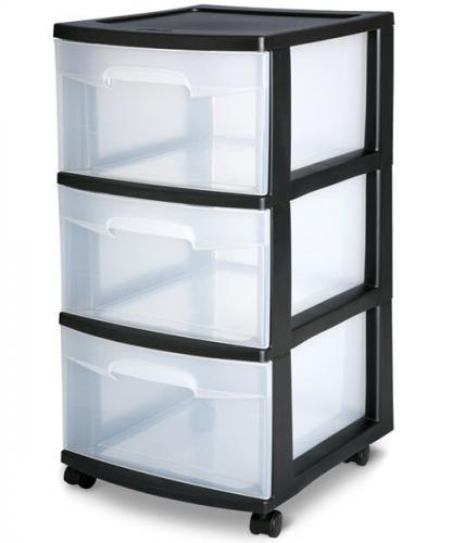 Cajonera 3 cajones mediana de plastico sterilite en e for Cajoneras de plastico