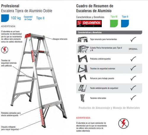 Escalera tijera al 5 esc tipo iii tapa de aluminio en e for Precios de escaleras de tijera de aluminio