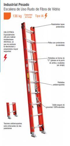 Escalera extension fv 28 esc tipo ia for Partes de una escalera