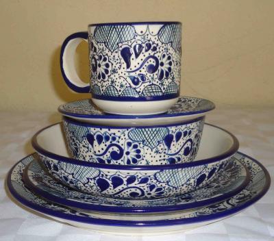 Vajilla talavera analia elaborada en ceramica de alta for Vajilla ceramica