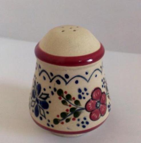 Salero grande decorado de flor elaborado en ceramica de for Saleros de cocina